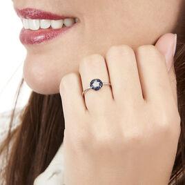 Bague Milana Or Blanc Saphir Et Diamant - Bagues avec pierre Femme | Histoire d'Or