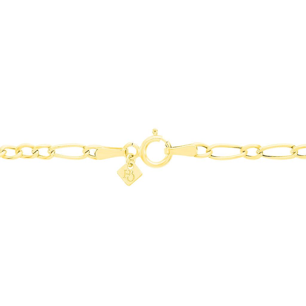 Bracelet Esra Maille Alternee 1/3 Or Jaune - Bracelets Naissance Enfant   Histoire d'Or