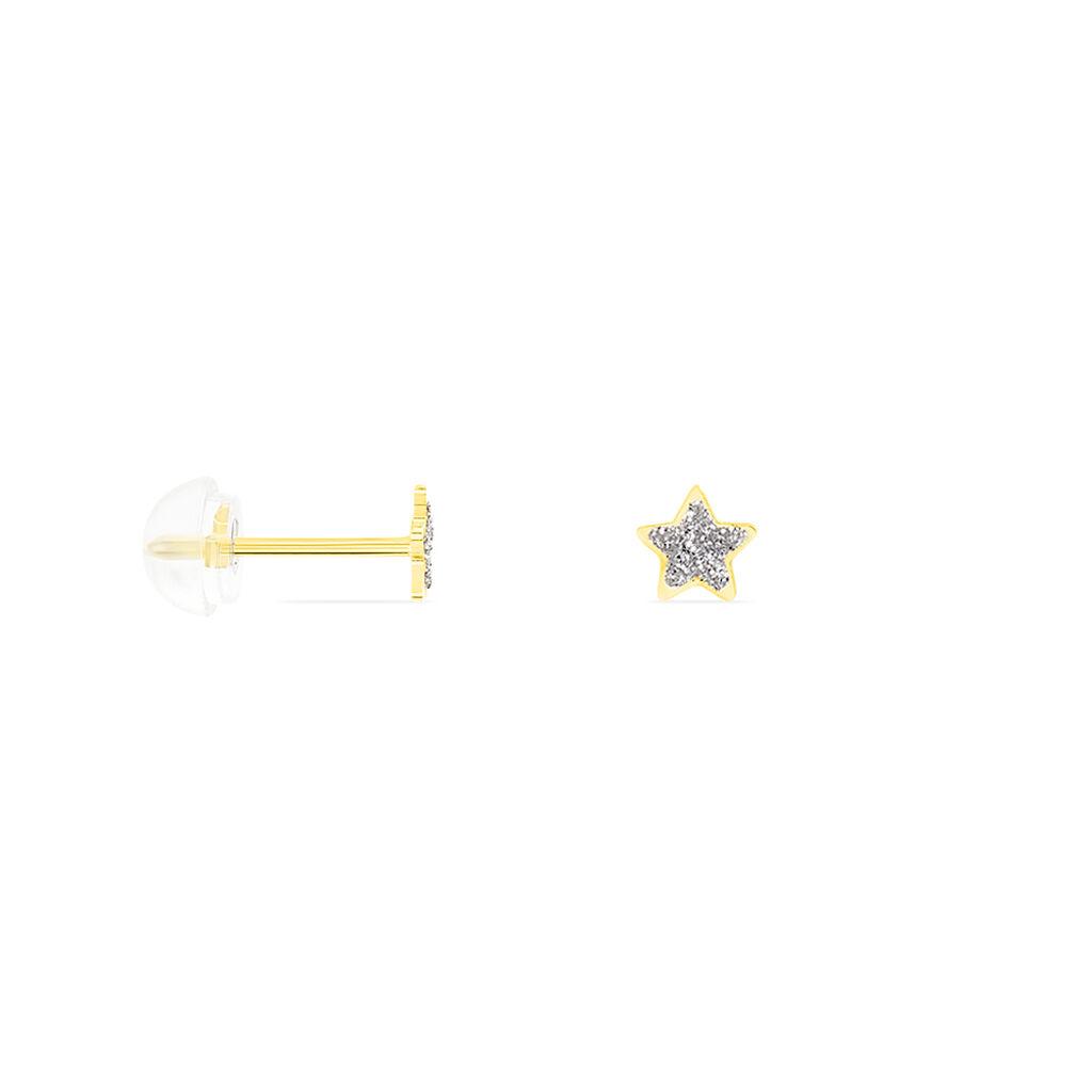 Boucles D'oreilles Puces Chirine Etoile Or Jaune - Boucles d'Oreilles Etoile Enfant | Histoire d'Or