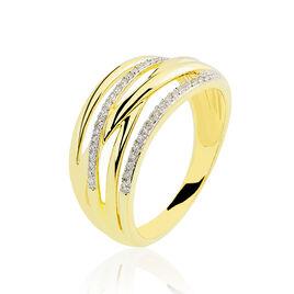 Bague Presilia Or Jaune Diamant - Bagues avec pierre Femme | Histoire d'Or