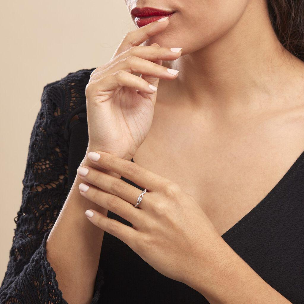 Bague Phoebus Argent Blanc Oxyde De Zirconium - Bagues avec pierre Femme | Histoire d'Or