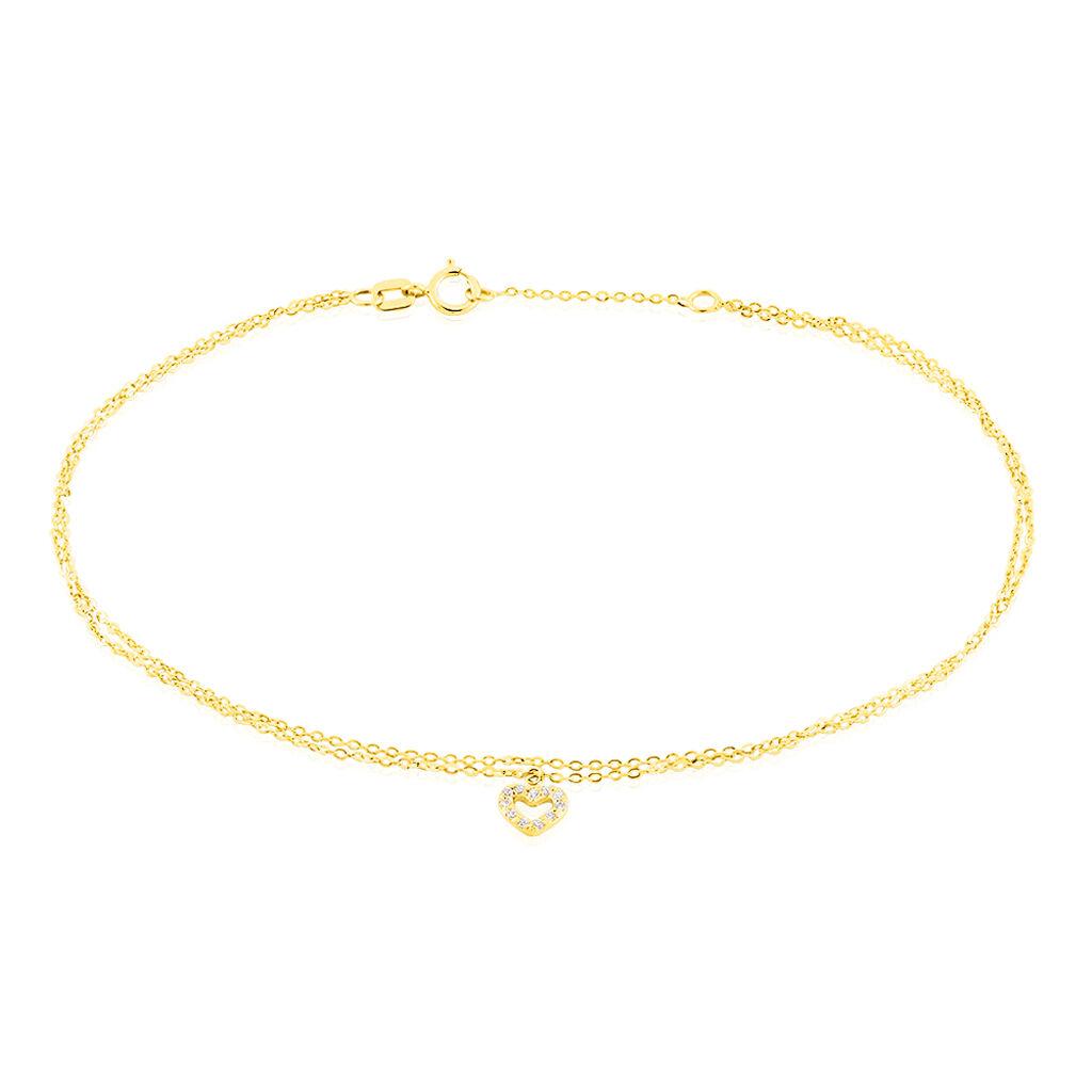 Chaîne De Cheville Salome Or Jaune - Bijoux Coeur Femme   Histoire d'Or