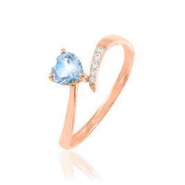 Bague Eva Or Rose Topaze Et Diamant - Bagues Coeur Femme | Histoire d'Or