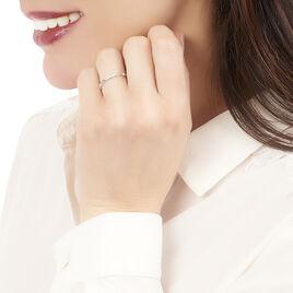 Bague Lisa Or Blanc Diamant - Bagues avec pierre Femme   Histoire d'Or