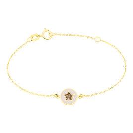 Bracelet Or Jaune Christelle - Bracelets Baptême Enfant   Histoire d'Or