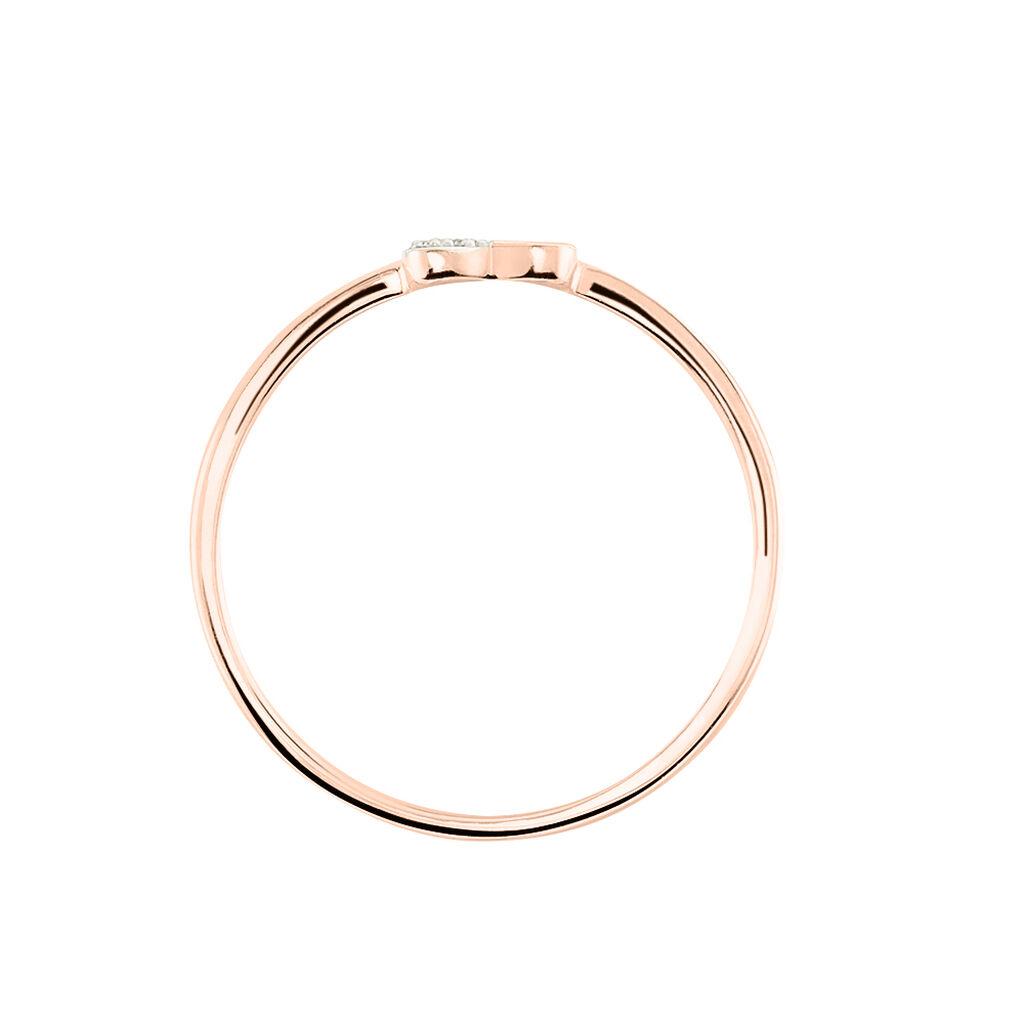 Bague Emilia Or Rose Diamant - Bagues Coeur Femme | Histoire d'Or