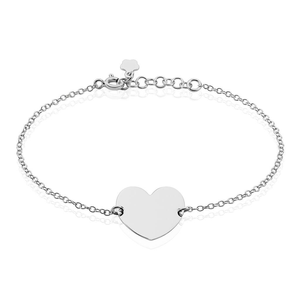Bracelet Kanitha Argent Blanc - Bracelets Coeur Femme | Histoire d'Or
