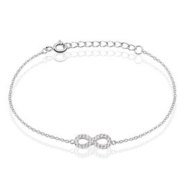 Bracelet Lou Argent Blanc Oxyde De Zirconium - Bracelets Infini Femme | Histoire d'Or