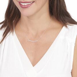 Collier Abby-gaelle Or Blanc Oxyde De Zirconium - Bijoux Femme   Histoire d'Or