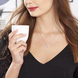Collier Origami Argent Blanc Oxyde De Zirconium - Colliers fantaisie Femme | Histoire d'Or