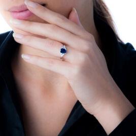 Bague Lea Or Blanc Saphir Et Diamant - Bagues solitaires Femme | Histoire d'Or