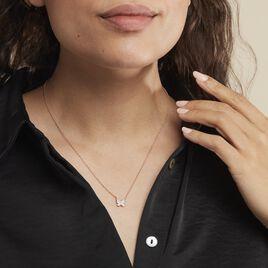 Collier Anne-lise Argent Rose Oxyde De Zirconium - Colliers Papillon Femme | Histoire d'Or