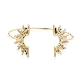 Bracelet Jonc Adena Plaque Or Jaune Oxyde De Zirconium - Bracelets joncs Femme   Histoire d'Or