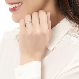 Bague Tie And Dye Or Blanc Topaze Et Saphir Et Diamant - Bagues avec pierre Femme | Histoire d'Or