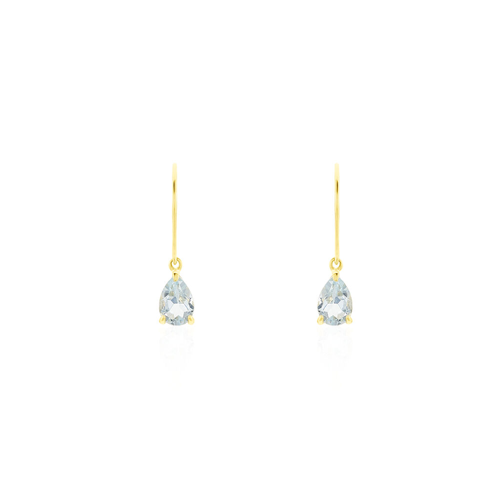 Boucles D'oreilles Pendantes Kalyne Or Jaune Topaze - Boucles d'oreilles pendantes Femme | Histoire d'Or