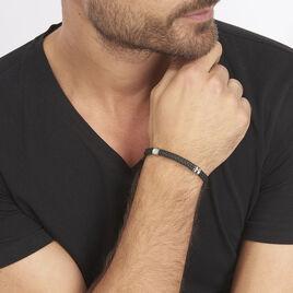 Bracelet Acier Et Or - Bijoux Homme | Histoire d'Or