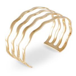 Bracelet Jonc Sidwellae Plaque Or Jaune - Bracelets joncs Femme   Histoire d'Or