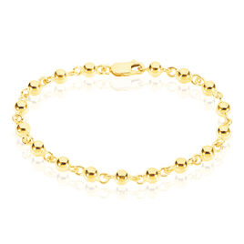 Bracelet Diona Maille Boule Or Jaune - Bracelets chaîne Femme   Histoire d'Or