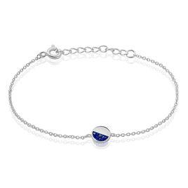 Bracelet Susanna Argent Blanc Lapis Lazuli - Bracelets fantaisie Femme | Histoire d'Or