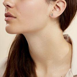 Boucles D'oreilles Puces Wiem Argent Blanc - Boucles d'Oreilles Etoile Femme | Histoire d'Or