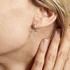 Créole Ancelin Rondes Argent Rhodié Oxyde De Zirconium - Boucles d'oreilles créoles Femme   Histoire d'Or
