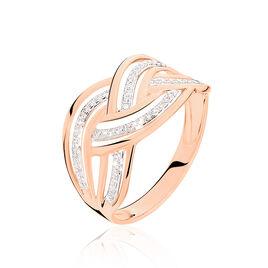Bague Leopoldine Or Rose Diamant - Bagues avec pierre Femme | Histoire d'Or