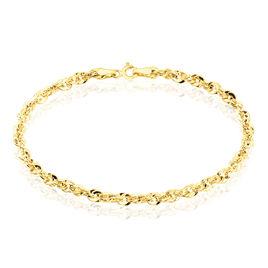 Bracelet Jerry Maille Corde Facettee Or Jaune - Bracelets chaîne Femme | Histoire d'Or