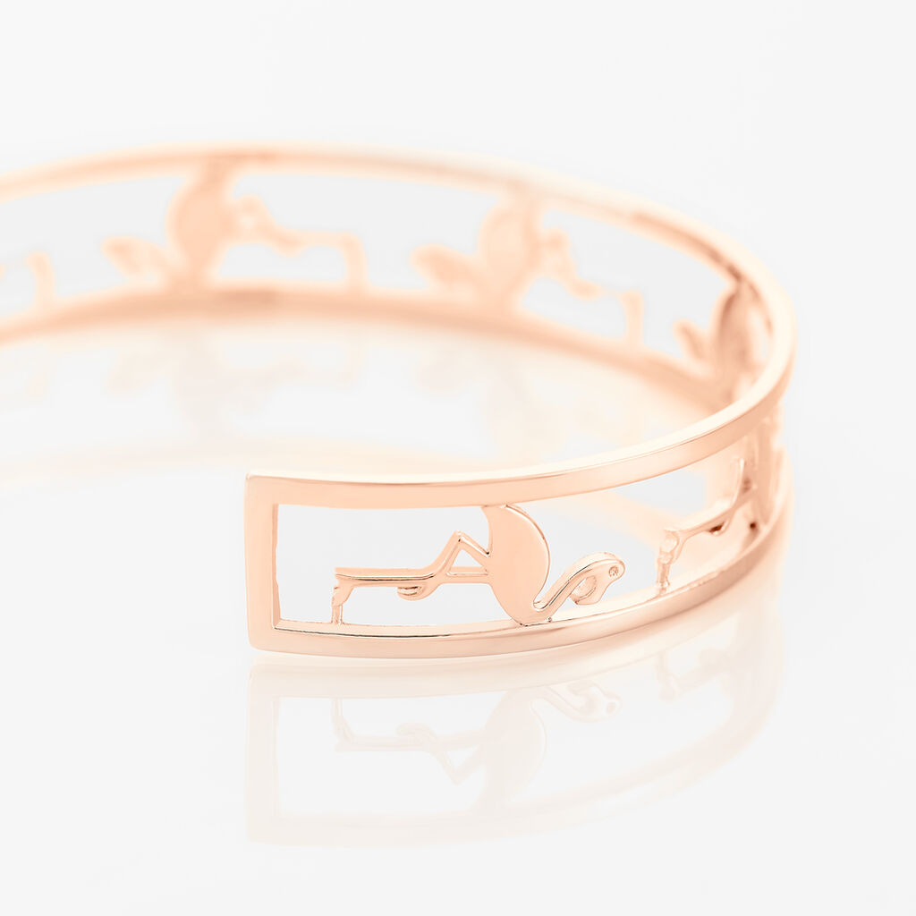 Bracelet Jonc Flamingo Argent Rose - Bracelets joncs Femme | Histoire d'Or