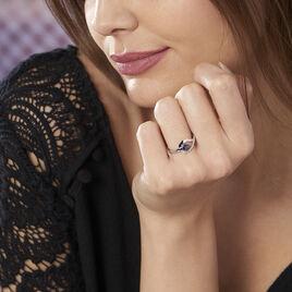 Bague Boucla Or Blanc Saphir Et Diamant - Bagues solitaires Femme | Histoire d'Or