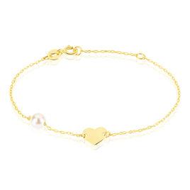 Bracelet Or Perle De Culture - Bracelets Coeur Enfant | Histoire d'Or