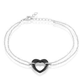 Bracelet Vivianne Argent Blanc Oxyde De Zirconium Et Céramique - Bracelets Coeur Femme | Histoire d'Or