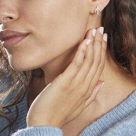 Boucles D'oreilles Aurora Or Jaune Topaze Oxyde - Clous d'oreilles Femme   Histoire d'Or