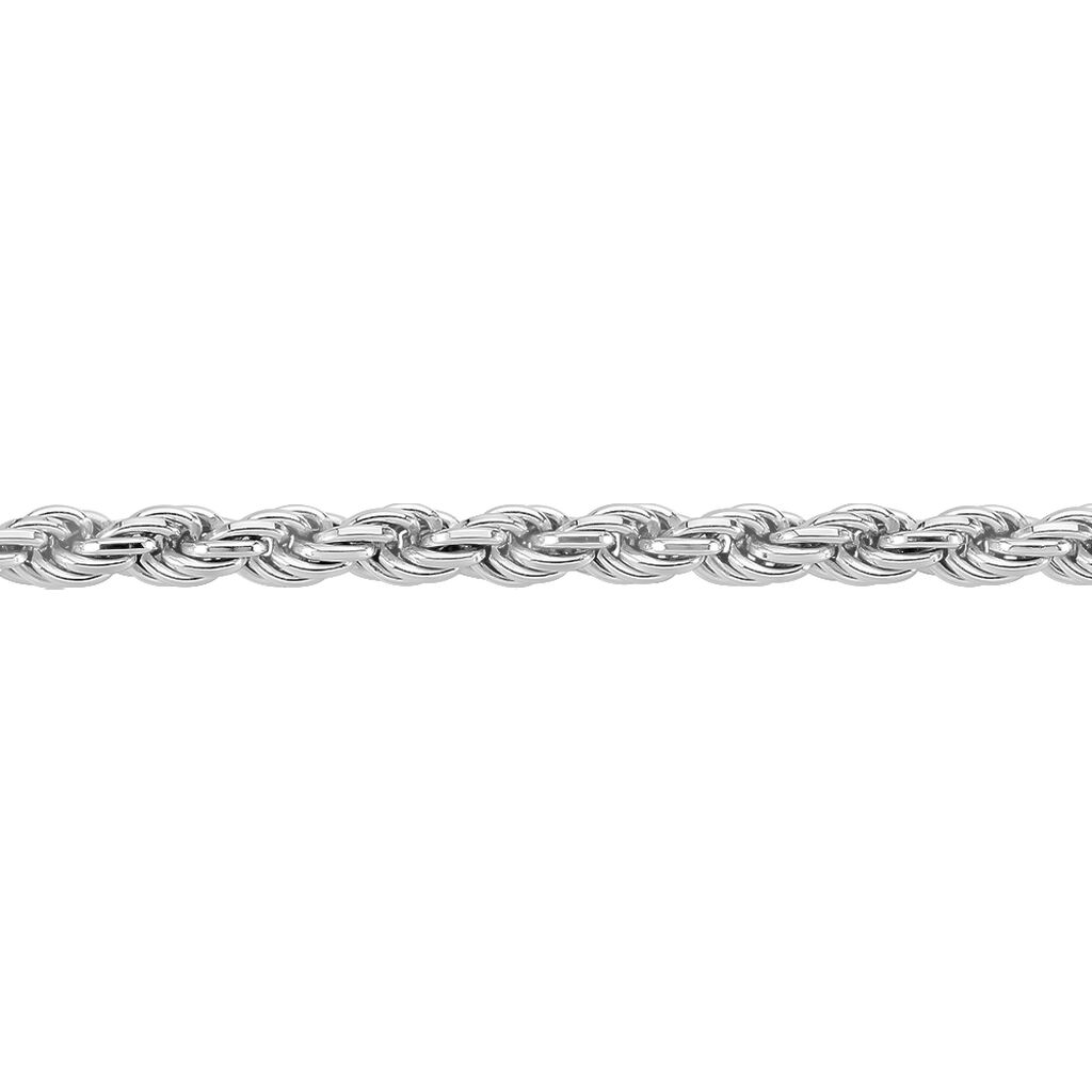 Collier Cacilda Maille Corde Argent Blanc - Chaines Femme | Histoire d'Or