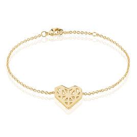 Bracelet Plaque Or Jaune Thea - Bracelets Coeur Femme | Histoire d'Or