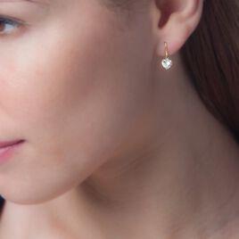 Boucles D'oreilles Djimmy Or Jaune Oxyde - Boucles d'Oreilles Coeur Femme | Histoire d'Or