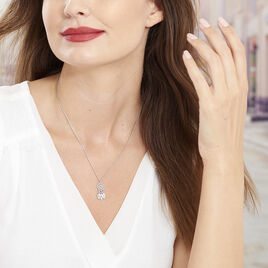 Collier Ida Argent Blanc - Colliers Attrape rêves Femme   Histoire d'Or
