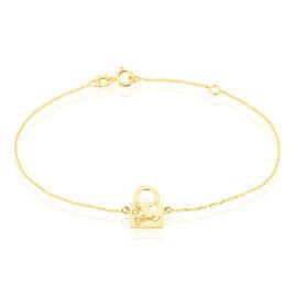Bracelet Liza Message Or Jaune - Bijoux Femme | Histoire d'Or
