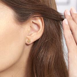 Boucles D'oreilles Puces Alphonsine Etoile Or Jaune - Boucles d'Oreilles Etoile Femme | Histoire d'Or