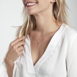 Collier Moscovado Or Blanc Diamant Synthétique - Bijoux Femme   Histoire d'Or
