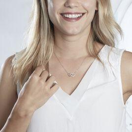 Collier Gasparde Argent Blanc Oxyde De Zirconium - Colliers Coeur Femme | Histoire d'Or