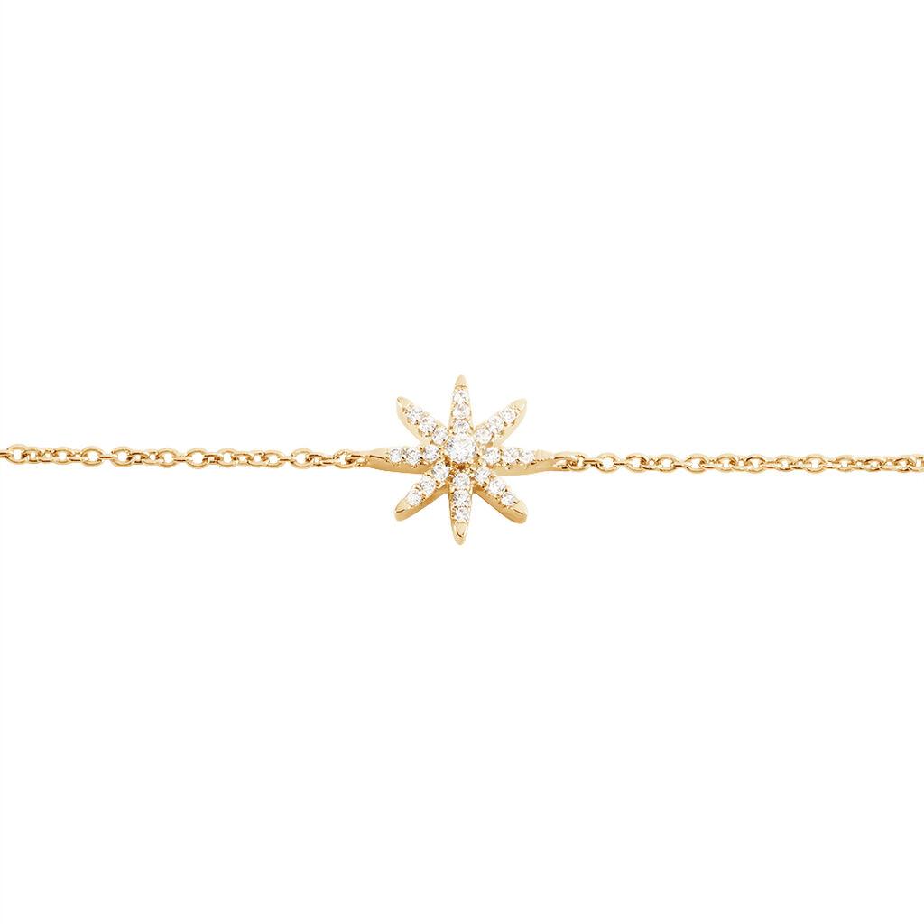 Bracelet Marcellina Plaque Or Jaune Oxyde De Zirconium - Bijoux Etoile Femme | Histoire d'Or