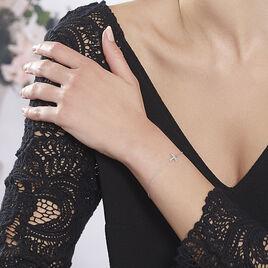 Bracelet Axella Argent Blanc Oxyde De Zirconium - Bracelets fantaisie Femme | Histoire d'Or