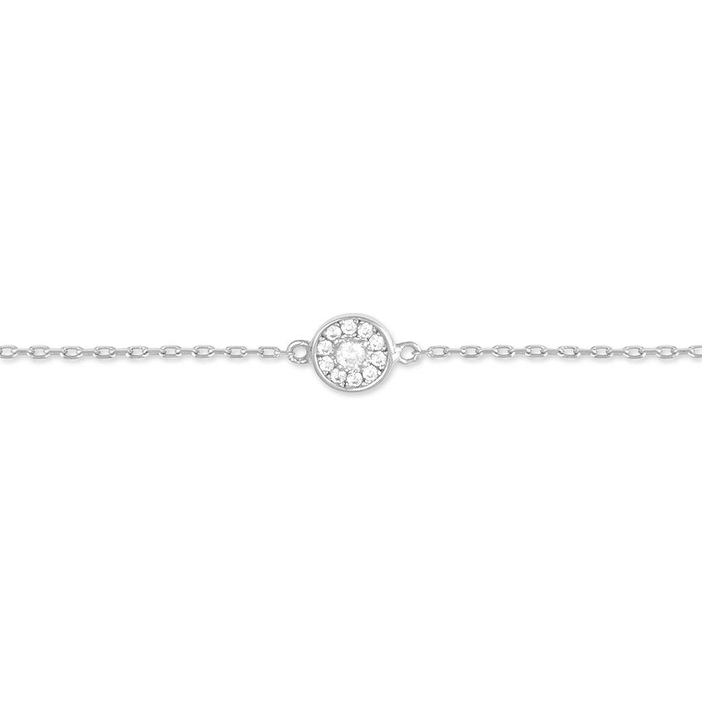 Bracelet Sabine Argent Blanc Oxyde De Zirconium - Bracelets fantaisie Femme   Histoire d'Or