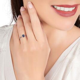 Bague Alyse Or Blanc Saphir Et Diamant - Bagues solitaires Femme | Histoire d'Or