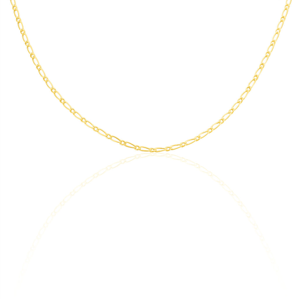 Collier Esra Maille Alternee 1/3 Or Jaune - Colliers Naissance Enfant | Histoire d'Or
