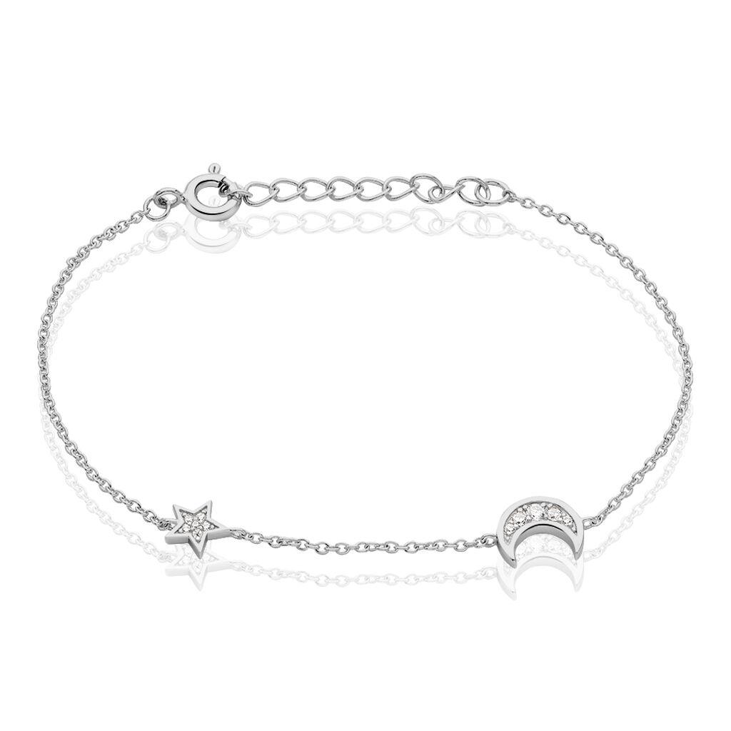 Bracelet Theoline Argent Blanc Oxyde De Zirconium - Bracelets Lune Femme | Histoire d'Or