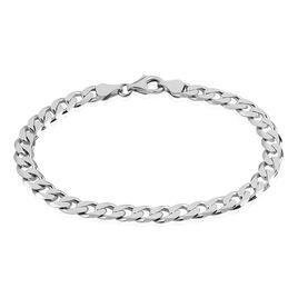 Bracelet Casper Maille Gourmette Argent Blanc - Bracelets chaîne Homme | Histoire d'Or