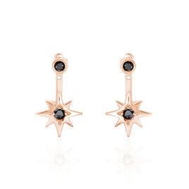 Bijoux D'oreilles Evora Argent Rose Oxyde De Zirconium - Boucles d'Oreilles Etoile Femme | Histoire d'Or
