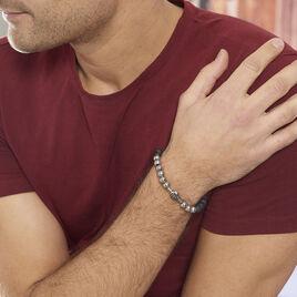 Bracelet Leititia Acier Blanc Pierre De Synthese - Bracelets fantaisie Homme | Histoire d'Or