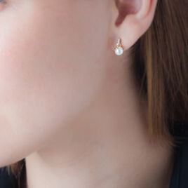 Boucles D'oreilles Pendantes Delight Or Jaune Perle De Culture - Boucles d'oreilles pendantes Femme   Histoire d'Or